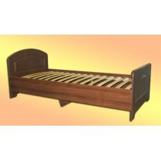 Кровать с ортопедическим основанием, с двумя спинками из МДФ