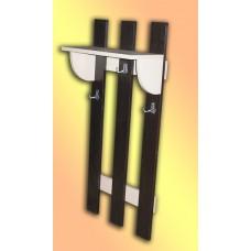 Вешалка настенная 3 крючка с полкой