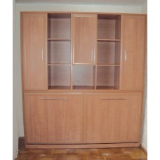 Шкаф - кровать с антресолью односпальная горизонтальная