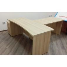 Новинка. Стол  с  приставным столом и подкатной тумбой