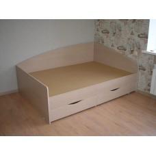 Кровать с 3-мя  спинками угловая