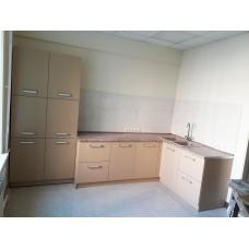 Кухня угловая Беж-Латте (фасад МДФ, эмаль матовая)